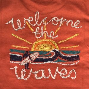 FAT FACE / WELCOME THE WAVES TEE (M)